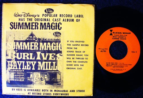 (Burl Ives & Hayley Mills Sing Hits From Walt Disney's New Movie Summer Magic (Alcoa Wrap); w/ picture sleeve)