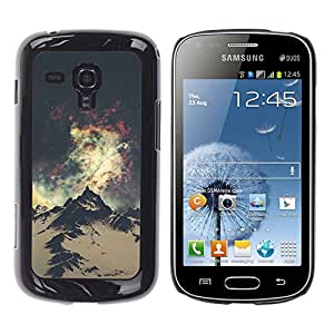 For Samsung Galaxy S Duos / S7562 Case , Mountain Hiking Andes Alaska Space - Diseño Patrón Teléfono Caso Cubierta Case Bumper Duro Protección Case Cover Funda