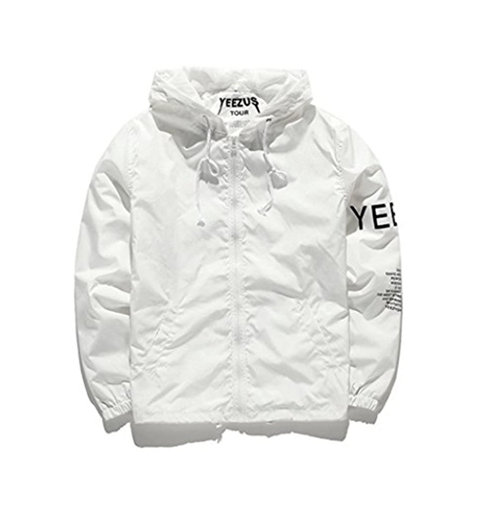 Tubaozi Men Lightweight Windbreaker Jacket West Skateboard Hiphop Streetwear Leisure Outwear Windproof Autumn Spring