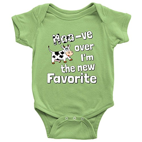 Cow Little Moo (Unisex Moo-ve Over I'm The New Favorite Cute Funny Infant Creeper Baby Onesie)