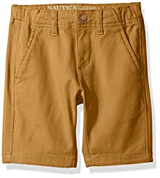 Nautica Big Boys\' Bermuda Slim Fit Shorts, Dark Khaki, 12