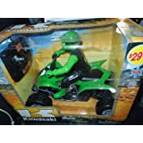 Kawasaki Wireless Remote Control 1:8 Scale Multi Function 4 Wheeler with Rider(check Individual Listing for Color of Item)