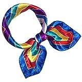 Fashion Women Small Square Scarf Scarf Digital Printed Headscarf Kerchief Neck Scarf for Ladies (D)