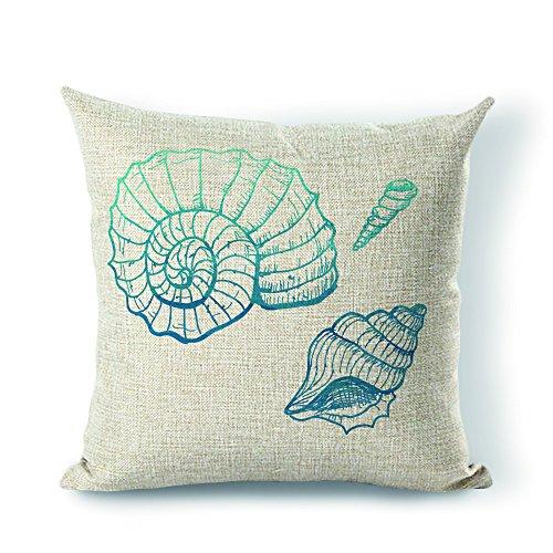 Yohoba-Pillow-Cover-Seashell-Cotton-Linen-Decorative-Throw-Pillow-Case-Cushion-Cover-16-X16-Inches