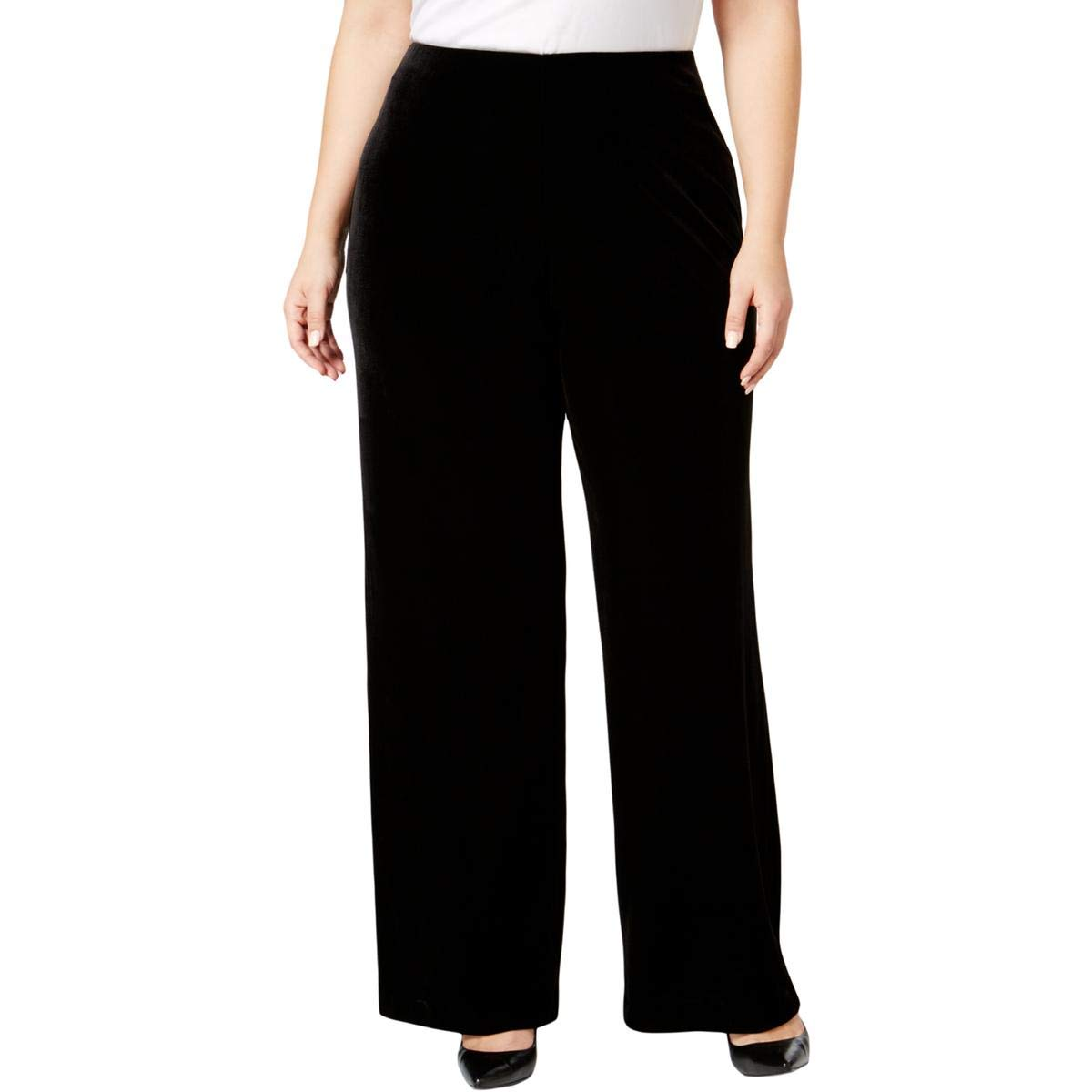 Alfani Womens Plus Velvet Curvy Fit Culottes