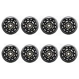 YUEMA 8 Packs of 64mm Mute Skate Inline Wheels