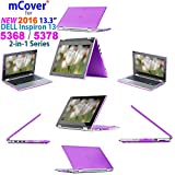 "iPearl mCover Hard Shell Case for 2016 13.3"" Dell Inspiron 13 5368 / 5378 2-in-1 Convertible ( NOT compatible with other Dell Inspiron 5000 series models ) Laptop ( Purple )"