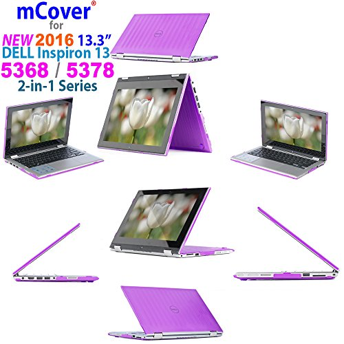 iPearl mCover Hard Shell Case for 2016 13.3 Dell Inspiron 13 5368/5378 2-in-1 Convertible (NOT Compatible with Other Dell Inspiron 5000 Series Models) Laptop (Purple)