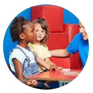 alfombrilla de ratón Los niños de jardín de infantes hacen que la enseñanza de idiomas - ronda - 20cm