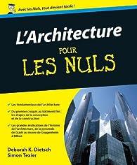 L'Architecture pour les nuls par Deborah K. Dietsch