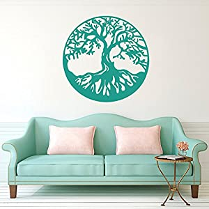 BATTOO Tree of Life Vinyl Wall Decal Sticker – Celtic Tree Life Wall D¨¦cor Culture Symbol Office Living Room Yoga Studio Wall Decoration(22″ h x22 w,Black)