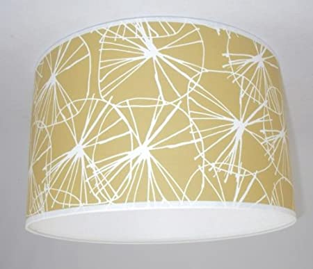 Lampshade Handmade In Uk Habitat Star Wallpaper Mustard