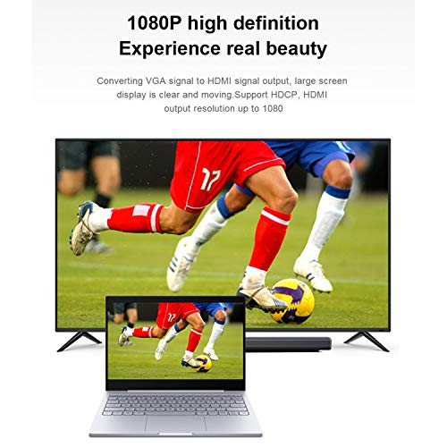 VGA to HDMI Adapter, VGA Male to HDMI Female Converter with 1080P HD Video and Audio Support for Connecting Laptop, desktop with VGA(D-Sub,HD 15-pin) to Monitor, HDTV with HDMI.(HDMI Female 12 inches) by Elecable (Image #3)
