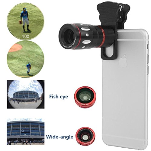 Sourcingbay-4in1-Photography-Kit-10x-TelephotoFisheyesMacroWide-Angle-Camera-Universal-Lens-Support-iPhone-4S-5-5S-6-iTouch-iPad-Samsung-S4-S5-S6-Note-HTC-etcBlack