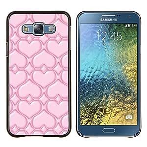 EJOOY---Cubierta de la caja de protección para la piel dura ** Samsung Galaxy E7 E700 ** --Pink Love