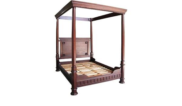 4 15,24 cm para cama de matrimonio en madera de caoba de Tudor ...