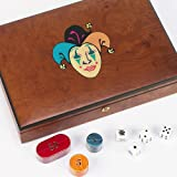 Bello Games Collezioni - Marsala Poker Chips and Card Set From Italy