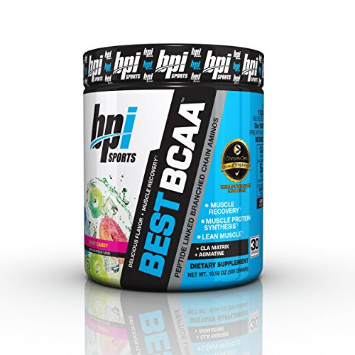 BPI Sports Best BCAA Powder, Branched Chain Amino Acids, Sour Candy - Build Muscle, Improve Recovery and Enhanced Energy Levels 30 Servings, 5g BCAA