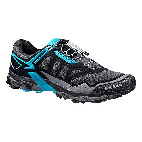 Salewa Women's Ultra Train-W Trail Running Shoe Black Out/Ocean 7.5 D US