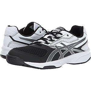 ASICS Women's Upcourt 2 Volleyball Shoe, Black/Silver/White, 8 Medium US