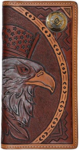 Spirit wallet American Custom tooled Mason leather hand Texas Small RZn4wfq