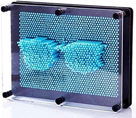 3D Pin Art Board Sculptures Classiques de Jouet dart de Pin Bleu Clair Jouet de Moule de Main dimpression de Broche MINGZE 3-Dimensional Pin Sculpture Jouet pour des Enfants et des Adultes