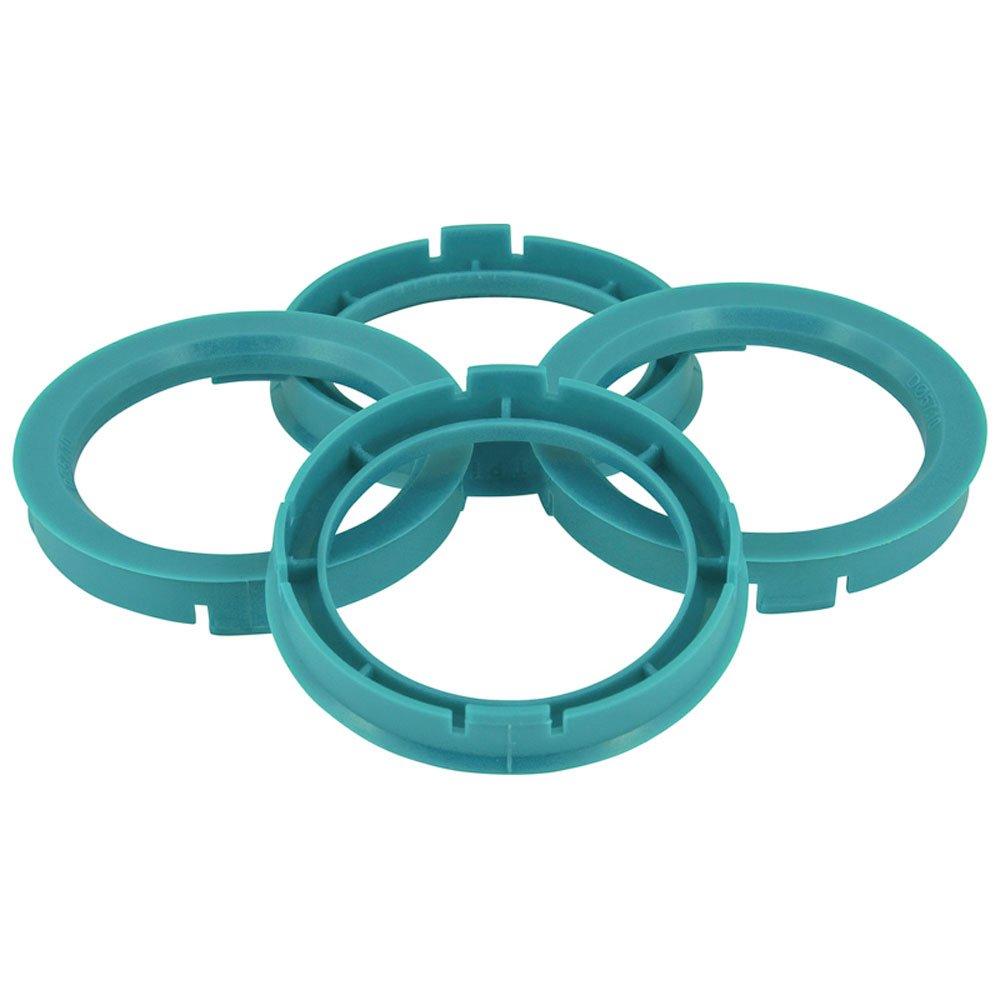 Set TPI Wheel hub rings - 72.5->60.1mm - Process Blue BX7256010-4