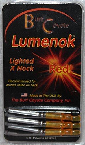 Burt Coyote Lumenok Lighted Arrow Nocks X Red 3/Pkg