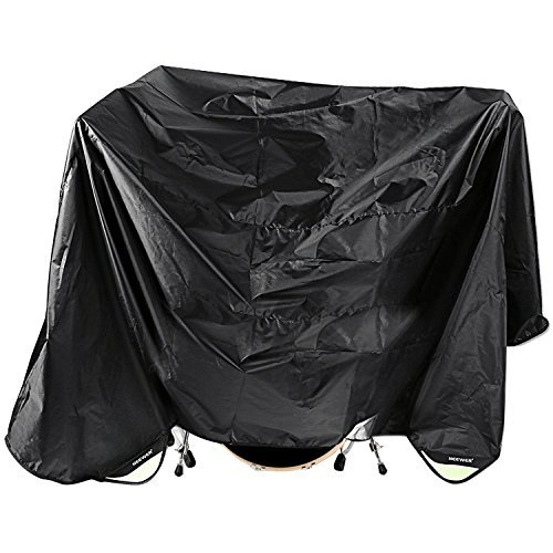 Neewer® Black 80 x 108 Inches Drum Set Dust Cover Water-Resistant Nylon Cover With Sewn-in Weighted Corners