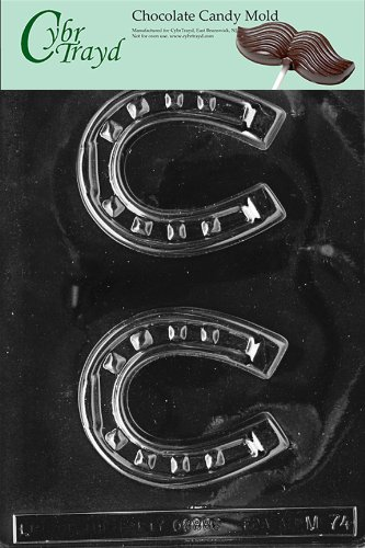 Cybrtrayd M074 Horseshoe Chocolate Candy Mold with Exclusive Cybrtrayd Copyrighted Chocolate Molding Instructions ()
