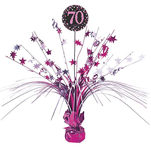 Amscan International 9901741 45 cm Pink Celebration 70th