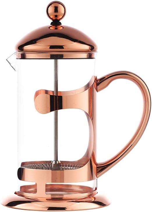 FENPING-teapot Cafetera Francesa, método de la Tetera Olla a presión, Filtro de Vidrio Juego de té en el hogar Tazas perezosas Espesado A Prueba de explosiones Máquina de té Manual: Amazon.es: Hogar