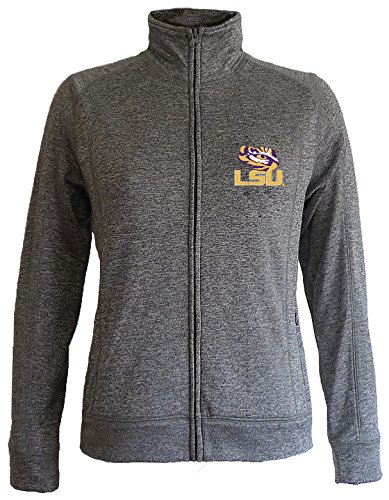 LSU Tigers Women's Slim Full Zip Jacket - XL - Charcoal