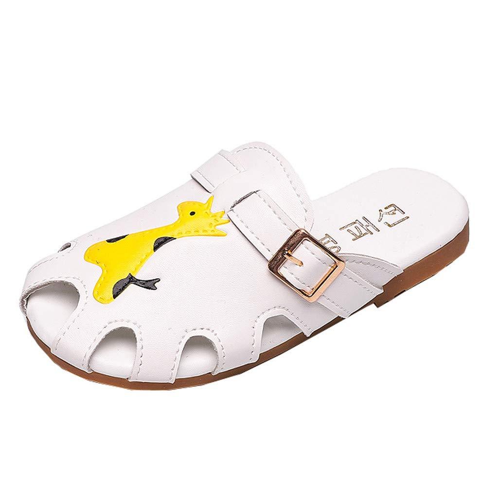Fashion Children Boys Girls Summer Animal Leather Slipper Casual Sandals Shoes