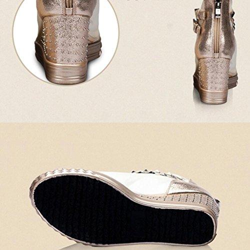 Poisson Bouche Hauts été Épais Chaussures Ms De Mesh Pu Talons Sandales Or Pente Fond Printemps xUfHZwqT
