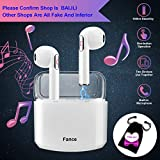 Fance Wireless Earbuds,Bluetooth Earburds Stereo, Wireless Earphones with Mic Mini In-Ear Earbuds Earphones Earpiece Sweatproof Sports Earbuds with Charging Case Compatible IOS Android Smartphones