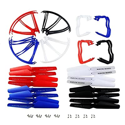 Coolplay Spare Parts Main Blade Propeller Protectors Blades Frame Landing Skid Included Mounting Screws Replacement for Syma X5 X5C X5C-1 RC Quadcopter: Toys & Games