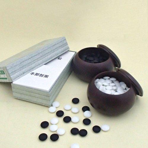 囲碁セット 蛤碁石徳用雪33号とP銘木大碁笥の商品画像