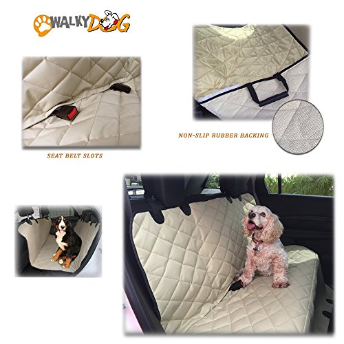 - Walky Dog Deluxe XL Rear Seat, Hammock Seat Cover for Full Size Cars Trucks and SUVs (Tan)
