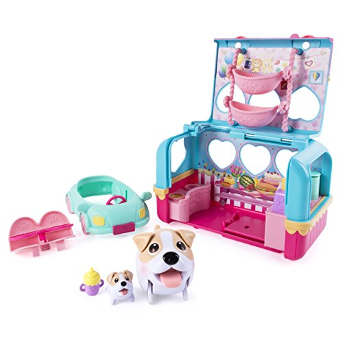 Chubby Puppies & Friends - Vacation Camper Playset - Jack Russell - Chubby Cars