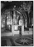 Photo: Church of the Holy Sepulchre. Calvary altar with candles & decoration removed