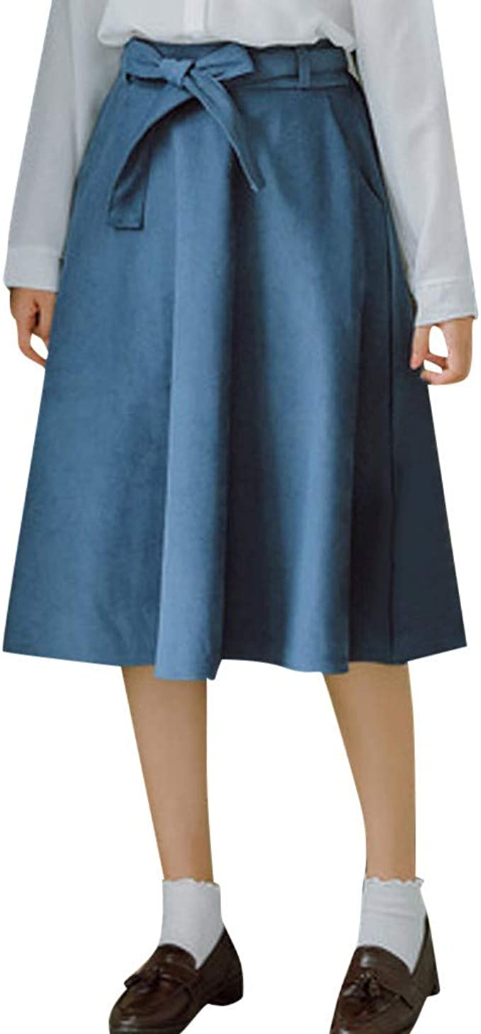 Geilisungren Faldas para Mujer Falda Larga para Mujer de Mezclilla ...
