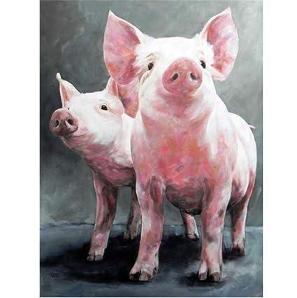 Amazon com: Diamond Painting Pig 5D DIY Embroidery Animal