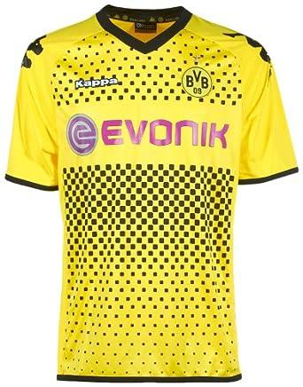 Kappa BVB - Camiseta de deporte para hombre, tamaño XXXL, color amarillo
