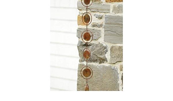 Ancient Graffiti Flamed Circle Rain Chain Copper Plated By Ancient Graffiti Amazon Ca Home Kitchen