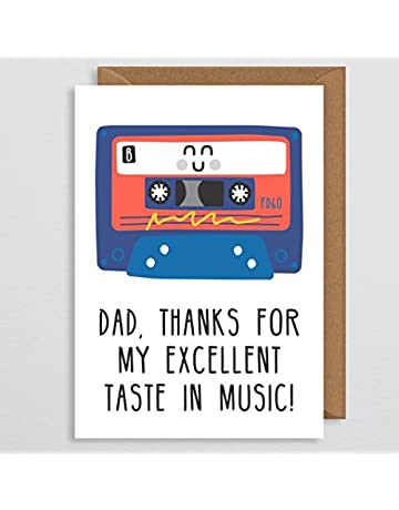 212bc2f9d Fathers Day Card - Dad Thanks for my excellent Taste In Music