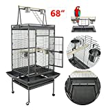 Nova Microdermabrasion 61/68 Large Bird Cage Play Top Parrot Cockatiel Parakeet Chinchilla Macaw Cockatoo Cage W/Stand Perch Pet Supplies (68) Larger Image