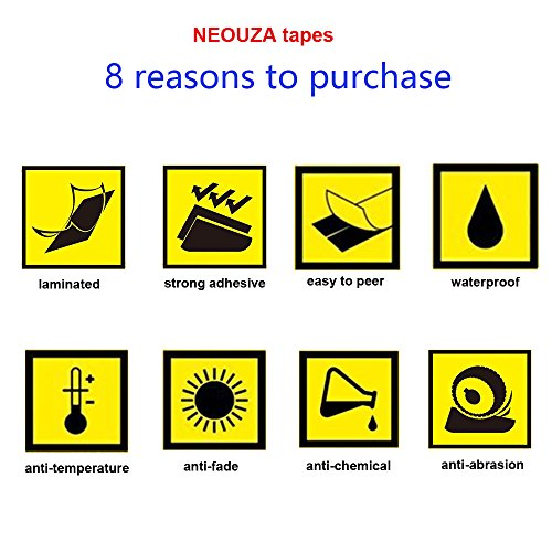 NEOUZA 5PK Compatible For Brother P-Touch Laminated TZe TZ Label Tape Cartridge 12mm x 8m(Blue on White,Red on White,White on Black,Black on Silver,Gold on Black)