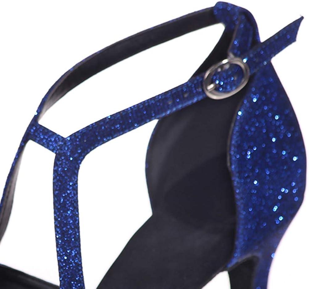 Femmes Tango Party Chaussures De Soir/ée Salle De Bal Performance Antid/érapantes Mid Bas Talon Semelle Souple Latine Salsa Chaussures De Danse