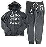 Aeropostale Women's Hoodie and Sweat Pants Set Dark Gray X-Small